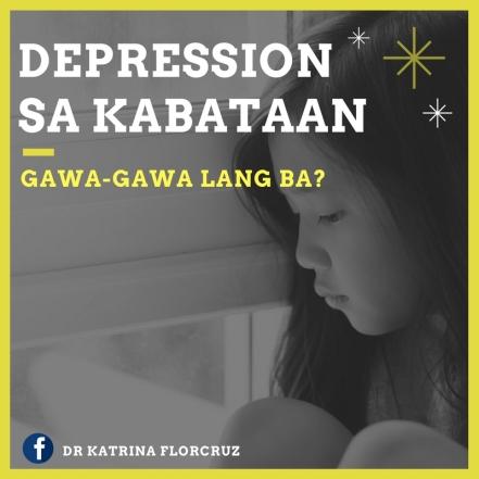 DrKatrinaFlorcruzPH_DEPRESSION SA KABATAAN_